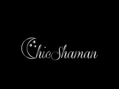 ChicShaman1 logo typography flat design vector branding
