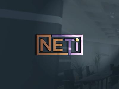 NETi typography minimal vector logo branding