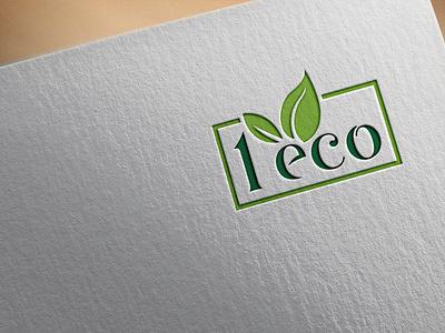 1 Eco icon flat typography logo vector branding