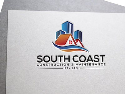 South Coast Construction   Maintenance Pty Ltd6 design icon logo vector branding