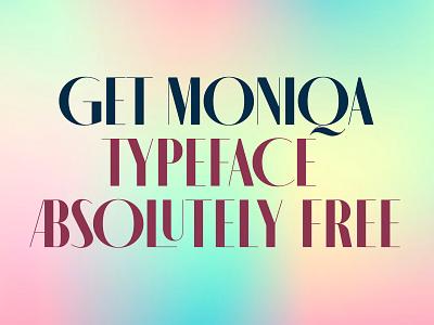 MONIQA – Free Typeface ui free font design illustration logo branding fashion minimalistic free typeface typography