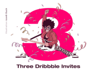 Three Dribbble Invite