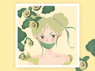 avocado fruit girl