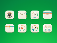 Some icon of one theme