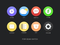 Geak watch icons
