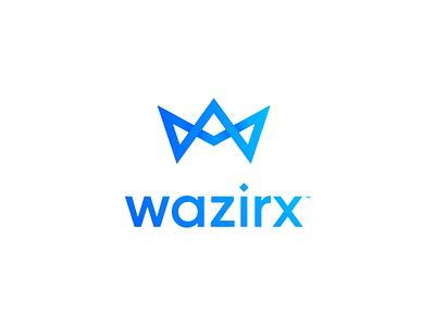 WazirX crypto exchange logotype typography brand identity logo design illustrator minimal logomark logo branding w w logo