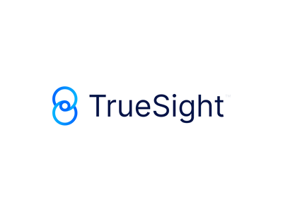 TrueSight sight logo eye logo eye brand identity logo design branding minimal logomark logo