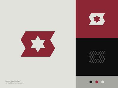 S + Star modern logo futuristic brand identity logo design branding minimal logomark logo star logo star s logo s