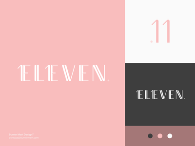 Eleven premium logo luxury modern logo design branding minimal logomark logo number logo numbers number 11 logo eleven logo 11 eleven