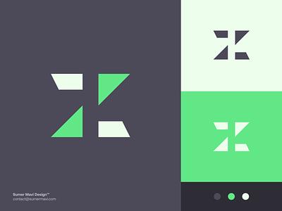 Z futuristic modern brand identity logo design branding minimal logomark logo z logomark z logo design z logo z