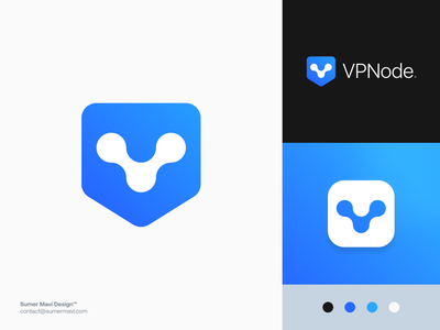 VPNode brand identity branding logo design minimal logomark logo v v logo security logo security vpn logo shield logo shield vpn