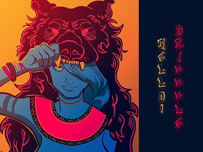 Hello Dribbble gradient illustrator illustration times fun