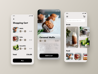 Daily UI 043 - Food / Drink Menu product design food drink menu user interface dailyui043 food menu drink menu ui ux ui design uidaily uidesigner uidesign userinterface app ios uiux daily ui ux ui dailyui daily 100 challenge
