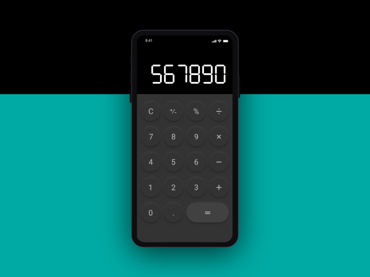 Daily UI 004 - Calculator dailyui004 calculator ios ui design dailyui daily 100 challenge daily