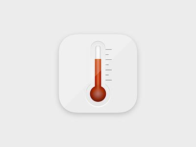 Daily UI 005 - App Icon dailyui005 thermometer appicon ui design dailyui daily 100 challenge daily