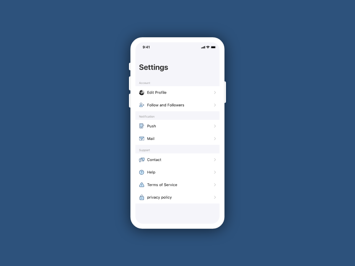Daily UI 007 - Settings dailyui007 setting settings ios ui design dailyui daily 100 challenge daily