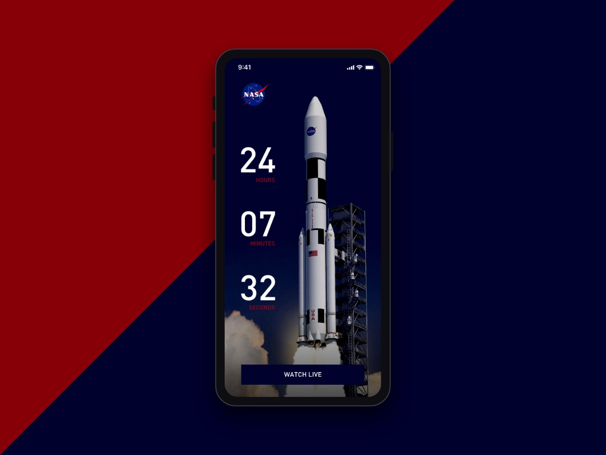 Daily UI 014 - Countdown Timer daily ui 014 dailyui014 timer countdowntimer countdown countdown timer rocket launch starting in ui design dailyui daily 100 challenge daily