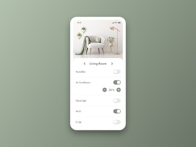Daily UI 021 - Home Monitoring Dashboard living room livingroom daily ui dailyui21 daily ui 21 dailyui021 daily ui 021 home monitoring dashboard interior app ui design dailyui daily 100 challenge daily