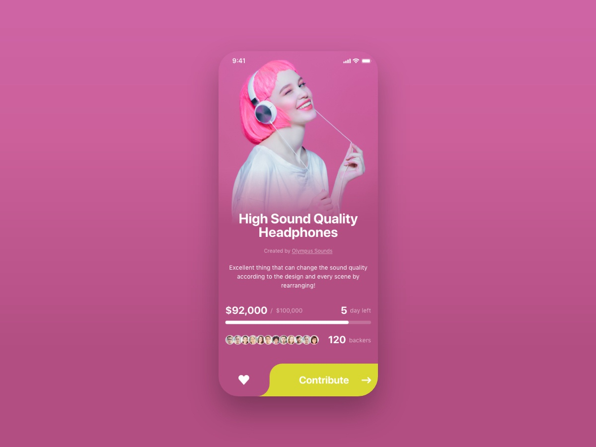 Daily UI 032 - Crowdfunding Campaign crowdfundingcampaign crowdfunding campaign dailyui32 dailyui032 daily ui 32 daily ui 032 ui  ux uidesign ui design app ios uiux daily ui ux ui design dailyui daily 100 challenge daily