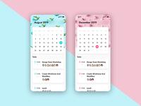 Daily Ui 038 - Calendar