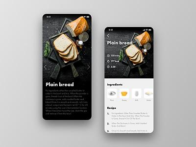 Daily UI 040 - Recipe ui design bread recipe dailyui40 dailyui040 daily ui 40 daily ui 040 app ios uiux daily ui ux ui design dailyui daily 100 challenge daily