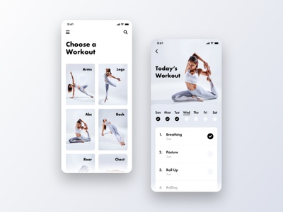 Daily UI 041 - Workout Tracker ui  ux uidesign ui design dailyui041 app ios uiux daily ui ux ui design dailyui daily 100 challenge daily