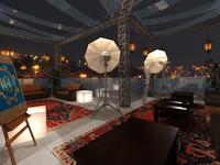 Open area studio setup
