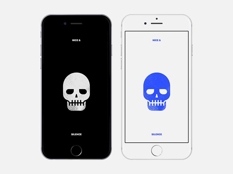 Simple skull wallpaper for iPhone by Heetaek Woo on Dribbble