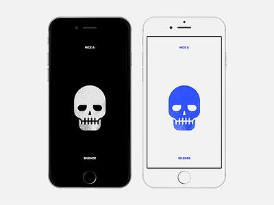 Simple skull wallpaper for iPhone minimal simple skull iphone6plus iphone6 wallpaper free