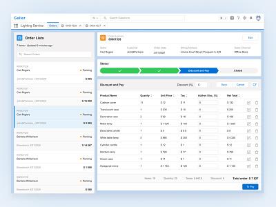 Salesforce | CRM system ux ui salesforce sales sale interface homepage fintech dekstop design database dashboard app dashboad crm clean cashbox blue application app