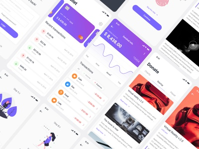 Mobile wallet application illustration mobile payment clean homepage branding ui ux typography minimal flat design color wallet bank application app
