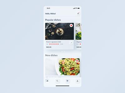 Skeuomorph 2.0 | Mobile app skeuomorph skeuomorphism clean ux ui mobile icon minimal food homepage design color application app
