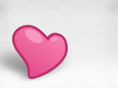 Happy <3-Day, dribbble valentines heart pink