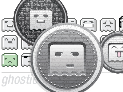 Ghosties emoticons allflair 1-inch buttons