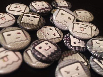 Ghosties #1 allflair emoticons 1-inch buttons