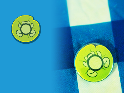 Froggie Pad allflair frog 1-inch buttons
