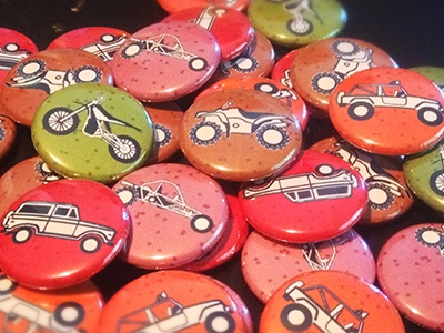 Off Road atv bronco motorcycle buggy jeep 1-inch buttons