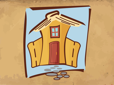 Home Reader bookathon illustration logo house book library