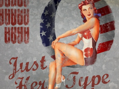 Nose Art red type letters bomber nose art