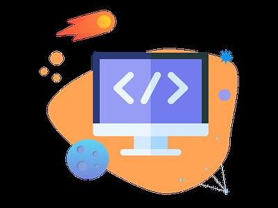 icon Web developpement icon design illustraion