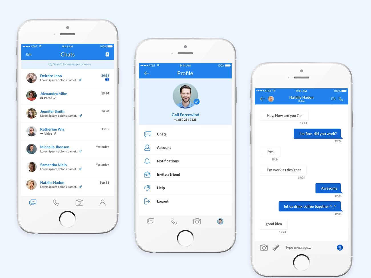 Chat Mobile Application UI online chat chatting chat app mobile app ui mobile app design mobile app