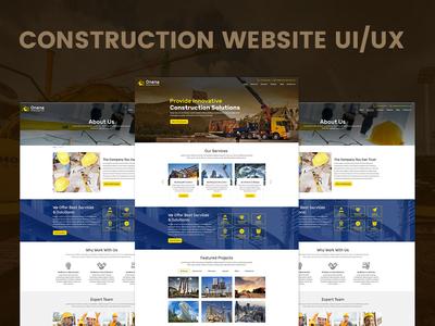 Construction Website UI/UX