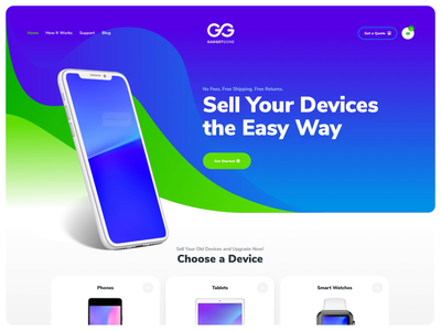 GadgetGone | Sell Your Devices the Easy Way designzillas responsive iphone color illustration animation ecommerce website ui design