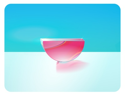 Unfold Glassic 🍉 lighting prism watermelon glass 3d figma illustration unfold