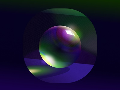 Glass 👏🏼🚫🧢 gradient blur nft vector illustration figma 3d glass sphere prism lighting