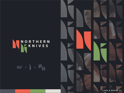 Land and Brand #3 | Northern Knives unfold illustration figma logodesign competition branding logo land and brand