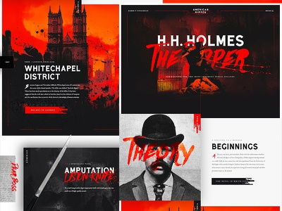 Mocktober 2017 - H.H. Holmes the Ripper photoshop photography illustration whitechapel hh holmes jack the ripper television horror design web design typography mystery halloween slasher mocktober