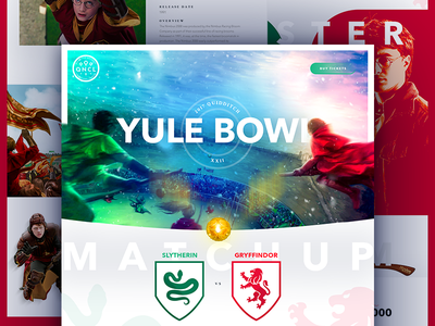 The 2017 Quidditch Yule Bowl mock the halls harry potter web design web typography