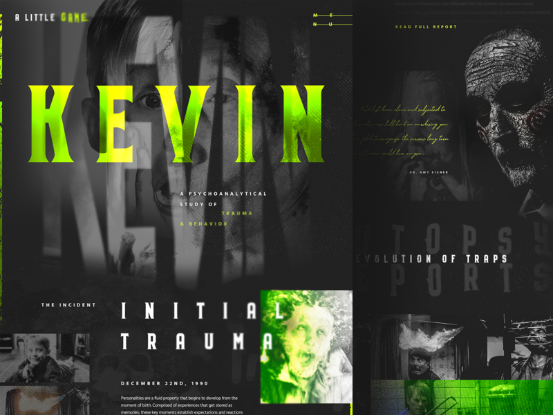 Kevin McCallister : A Little Game saw home alone horror typography web design designzillas halloween mocktober