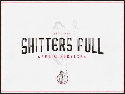 Sh*tters Full Septic Services illustration holliday christmas branding mockthehalls mock the halls